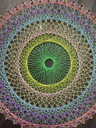糸かけ曼荼羅のイメージ